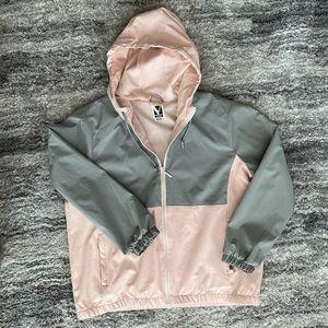Voyager hoodie windwear jacket gray and pink sz M